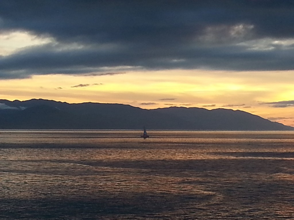 Grayish Boat Sunset