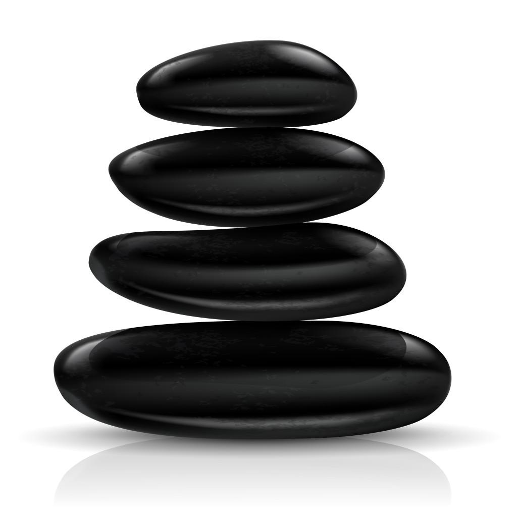 Stones spa. Illustration on white background for design